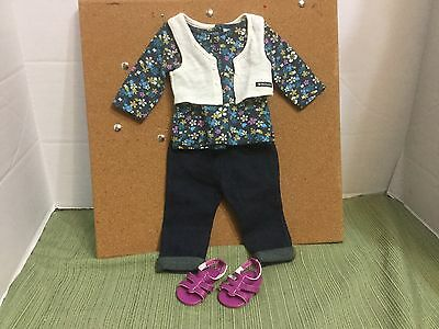 """American Girl 18""""Doll Clothes 2012 Weekend Fun Outfit & Shoes Mint Conditions"""