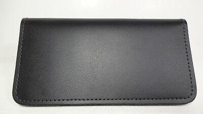 Bay State Exclusive Black Genuine Leather Standard Checkbook Cover-Made In USA