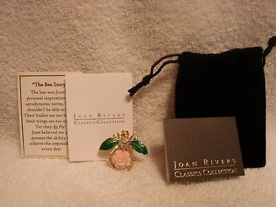 Joan Rivers Beautiful Limited Edition Pink Gardenia Bee Pin,new, No Tags