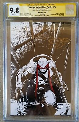 Teenage Mutant Ninja Turtles 75 Cgc Ss Original Art