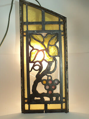 Beautiful Antique Church Stained Glass Window Piece