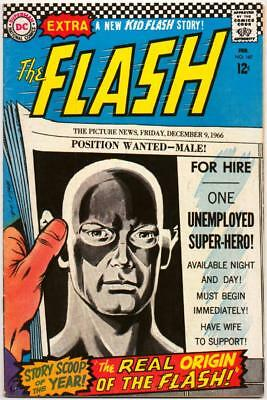 Flash 167 Dc Silver Age Origin Issue Carmine Infantino Joe Giella 1966 Bin