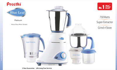 Preethi Blue leaf platinum mixer grinder 750 Watts