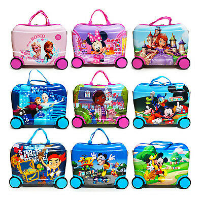Luggage Suitcase Kids Ride On Travel Trolley Cabin Toy Hard 34*46*22 cm
