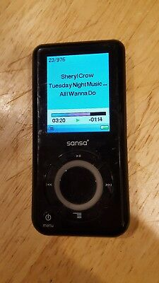 SanDisk Sansa e280 Black 8 GB Digital Media MP3 Player  Rhapsody works great