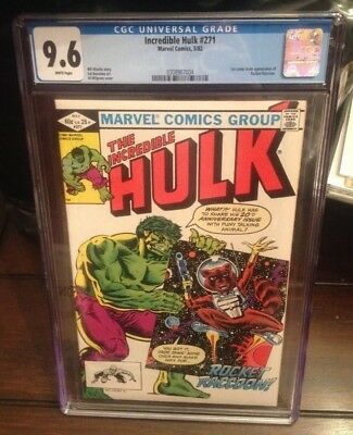 INCREDIBLE HULK #271 CGC 9.6 White Pages 1st ROCKET RACCOON APPEARANCE