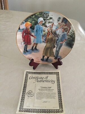 "Very Rare Little House On The Prairie Plate "" Country Girls ""1982 W/ Box C.o.a."