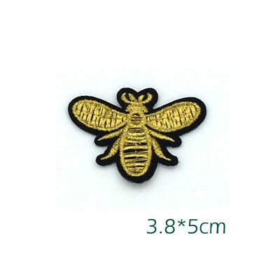 f89ca2363 Iron on Sewing Patch Embroidered Emblem Cloth Applique Flying Yellow Honey  Bee