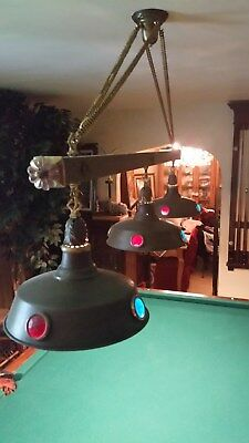 Antique Brunswick,Balke and Collender items, Kantro 3 shade light,Alexandria 9'