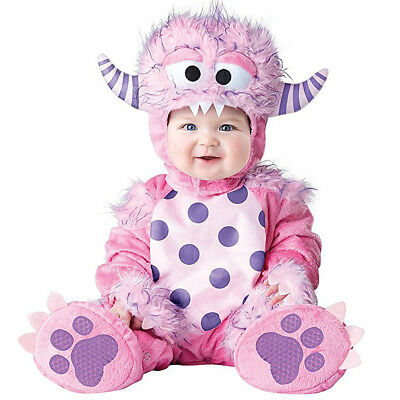 Toddler Baby Infant Pink Monster Dress up Porim Holiday Halloween Outfit Costume