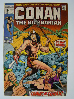 Conan the Barbarian #1 Barry Smith Art Origin & 1st Appearance Comics 1970 VF
