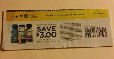 9x Save $3 on any one multipack Ensure Coupons LOT $27 Exp. 3/4/18