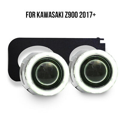 KT LED Angel Halo Eye HID Projector Lens for Kawasaki Z900 2017+ Headlight