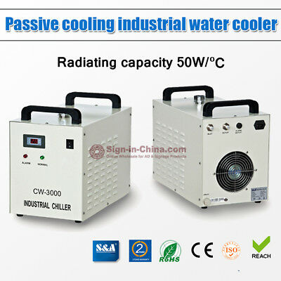 AC110V 60Hz S&A CW-3000DG Water Chiller with 60W / 80W CO2 Glass Laser Tube