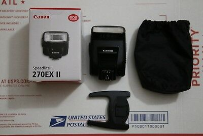 Canon Speedlite 270EX II Shoe Mount Flash for Canon, Mint condition.