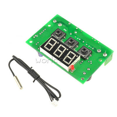 Red LED Temperature Controller Control Switch DC 12V W1301 Thermostat Sensor