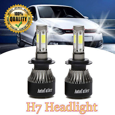 2x H7 CREE LED Headlight 200W 20000LM Bulbs Kit 6000K For VW Polo Golf Scirocco