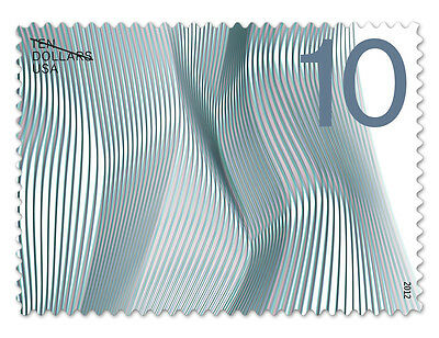 USPS New $10 Waves of Color Self-Adhesive Stamp Sheet of 10 Designed