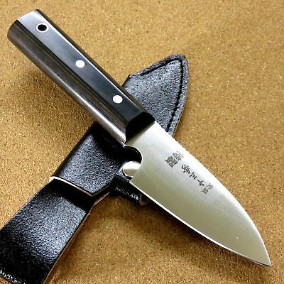 """Japanese Camping Knife 3.7"""" Right handed Hunting Outdoor Survival Sheath JAPAN"""