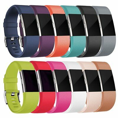 Replacement Silicone Sports Watch Wristband Strap Bracelet For Fitbit Charge 2