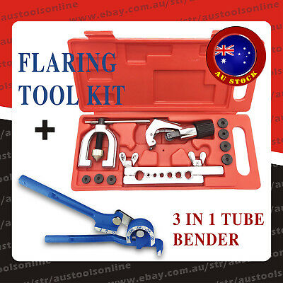 Double Flaring Tool Kit Tube Bender Auto Plumbing Aluminum Copper Pipe Cutter