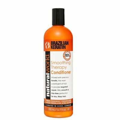 Natural World Brazilian Keratin Smoothing Therapy Conditioner 500ml 1 2 3 6 12