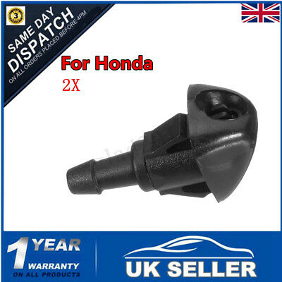 2x Front Windscreen Washer Jet Spray For Honda Civic Accord Vii Jazz