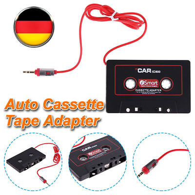 3.5mm Klinkenstecker Auto Audio Tape Kassettenadapter AUX Kabel Mp3 Konverter DE