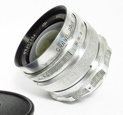 Mir-1 37mm f/2.8 1958 Zagorsk CHROME lens M39 screw mount EXC. GOOD CONDITION