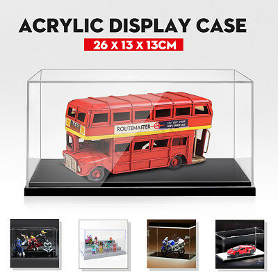 Acrylic Display Case  26x13x13CM Clear Plastic Base Box Dustproof Protection