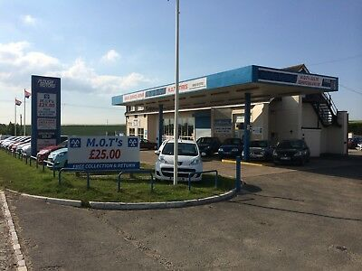 Mot Station, Garage, Car Sales (All Stock Included)  May Take A Part Exchange !!