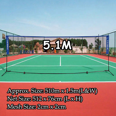 16'X5' Portable Badminton Net Volleyball Tennis Nets Set Foldable Frame Stand AU