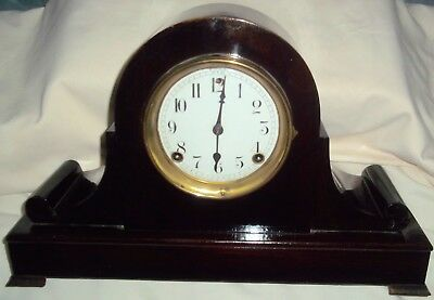 Vintage Antique Sessions 8 Day Time and Strike Mantle Clock With Key