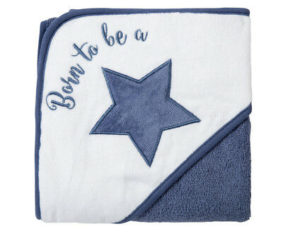 Playgro Born To Be A Star Hooded Towel - Blue/White