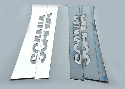 Scania 7 SERIES Door PILLAR Super Polished Stainless Steel 4 Pcs
