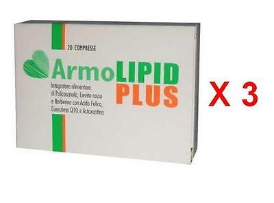 Armolipid Plus 3 Confezioni Da 20 Compresse Integratore Alimentare