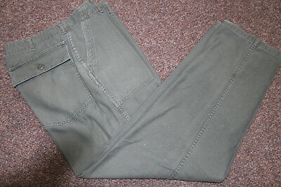 Vietnam War Us Army Cotton Sateen Og107 Utility Trousers Pants 36X31 Dated 1972