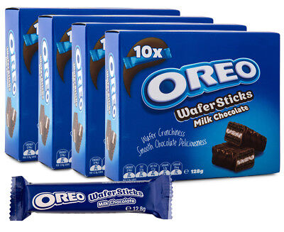 4 x OREO Wafer Sticks Milk Chocolate 128g