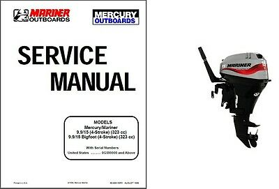 Mercury Mariner 9.9 / 15 / Bigfoot 4-Stroke Outboard Motor Service Manual CD