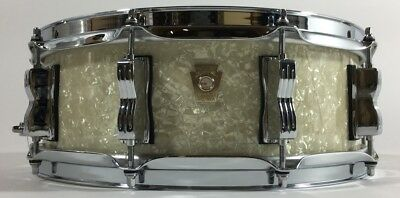 Ludwig USA Classic Maple Snare 14x5 Vintage White Marine