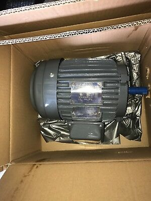 Teco Westinghouse  Motor, 2hp, 1800rpm, 145T Frame, Footed Frame,-NP0024