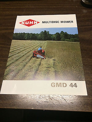 Vintage KUHN GMD44 Multidisc Mower Advertising Brochure Mint!