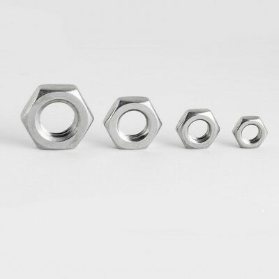 Hexagon Thin Half Lock Nuts Metric Coarse Threads A4 Stainless Steel M4 - M20