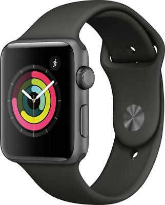 Open-Box Excellent: Apple - Apple Watch Series 3 (GPS), 42mm Space Gray Alumi...