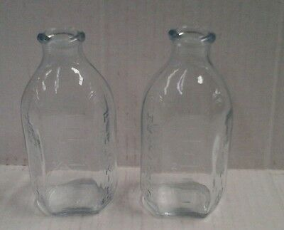 Vintage Fire King Heatproof 2 - 4 Oz Baby Bottles/nursers Sapphire Blue