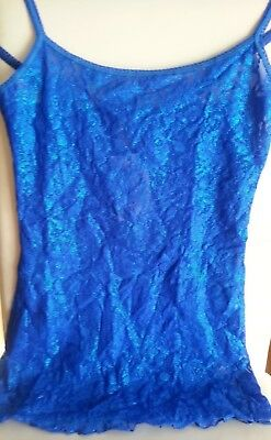 Hanky Panky Shimmer LaceCamisole Small BlueSapphire Valentine's Day Sexy Nwt