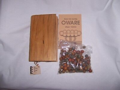 African Oware Seed Board Game hand carved book form