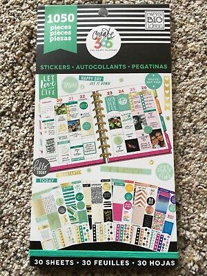 Create 365™ The Happy Planner Value Pack Stickers, This Colorful Life 1050 NEW