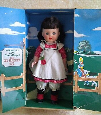 Horsman Doll Adorable Outfit Miss Moppet Great Condition 17 inches tall SO CUTE!