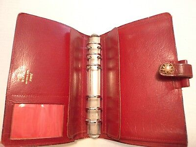 Filofax-Calf Leather Planner-Vintage-Made In England- Classic-Model 4Clf 7/8
